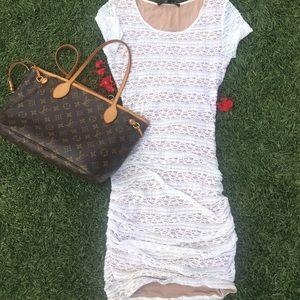 BCBG Maxazria lace dress.